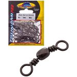 Tsunami Black Barrel Swivel Size 14 10.5kg 20pc