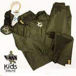 Vass 130-54C W/P/B Kids Jacket & Trouser Khaki