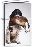 Zippo Springer Spaniel High Polish Chrome Lighter